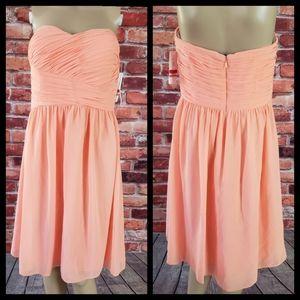 Donna Morgan Peach Gown Dress Size 8 NWT